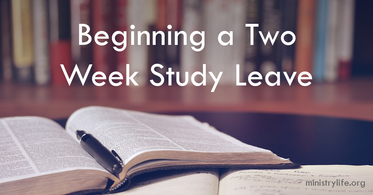 I'm beginning a two week study leave. Basically, continuing ed for a pastor. Along the way, I'll post what I learn and develop.